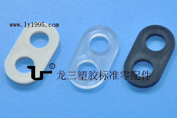 黑白透7mm两孔8字线扣源头生产厂家东莞龙三厂 大量现货