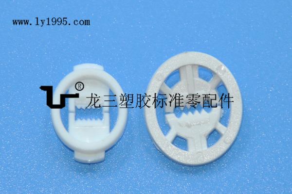 白色大小塑胶鱼嘴线夹  符合ROHS