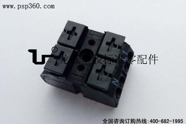 4线整体化接线端子N-L1 带有 2x PIN 2极
