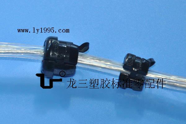 供应5P-4电源卡扣锁圆线 PP阻燃