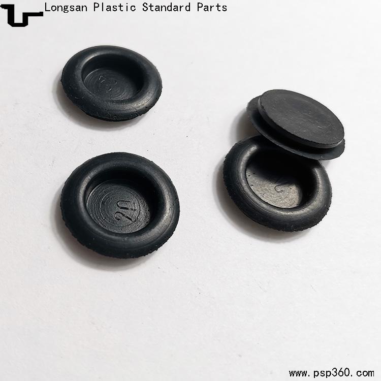 开孔20mm带膜防尘密封护线圈单面橡胶护线圈