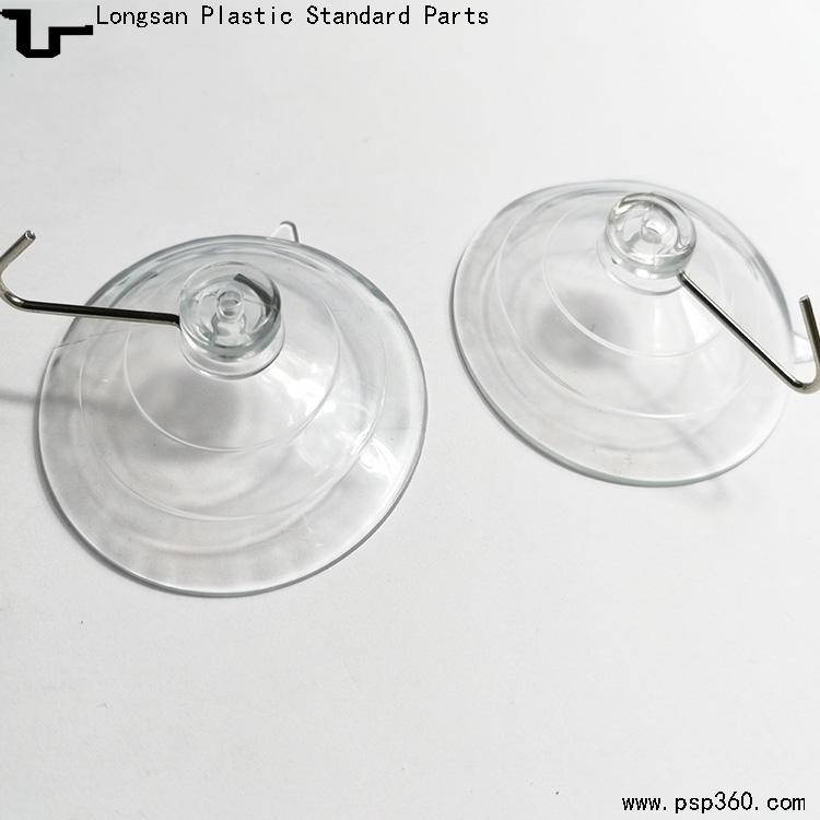 PVC真空玻璃吸盘直径60mm带单铁挂钩吸盘