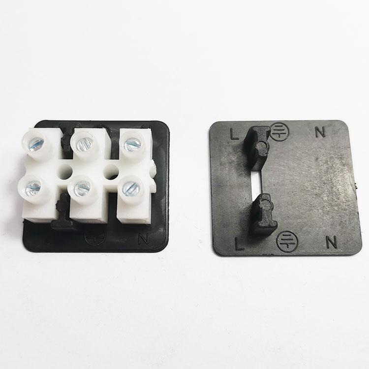 PA9/PA10/CH3接线柱端子台专用塑料固定绝缘片