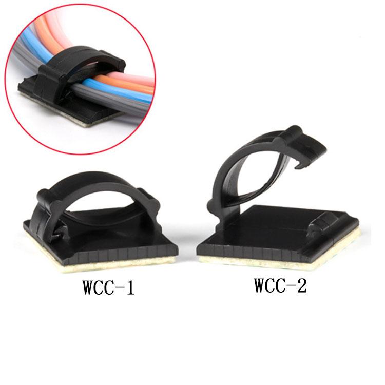 WCC-1 自粘式固定座 电缆塑料扣子记录仪线夹