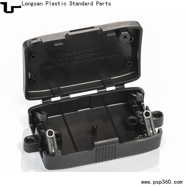 自锁式免螺丝四位端子接线盒415欧规接线盒LED防尘盒