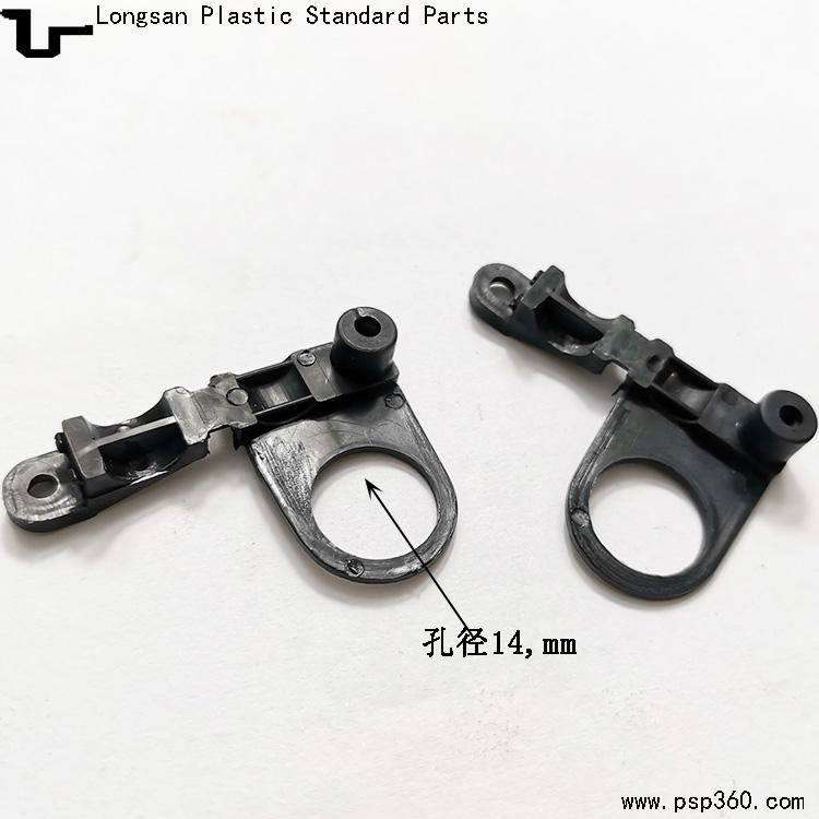 4分欧式压线板 台灯线夹 塑料P型压线夹孔径14mm