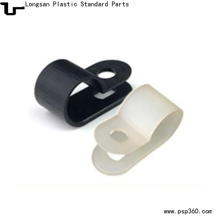 UC-3(12.7mm 1/2)白色黑色电缆紧固线夹尼龙R形压线夹