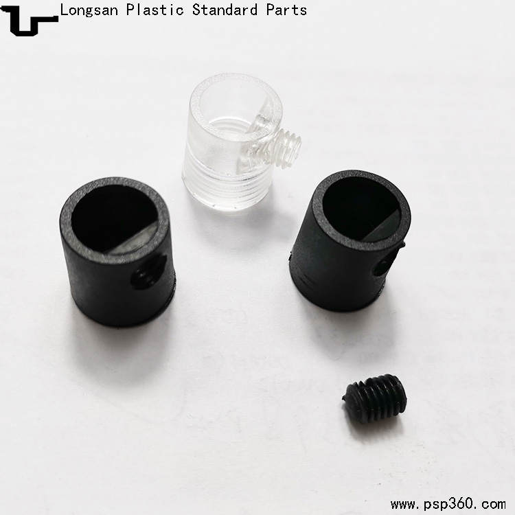 4分18牙301线扣欧规内牙线扣塑料固定器锁线扣黑色透明
