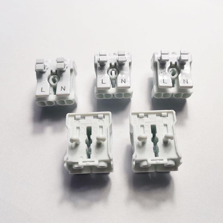 OJ-821美规灯具导线连接器 二位双按压式筒灯端子台