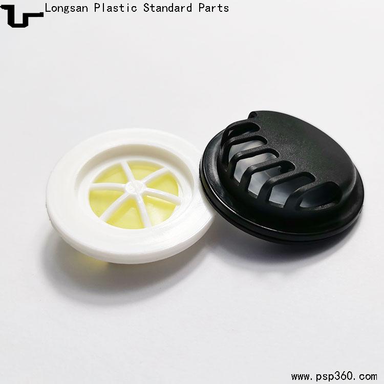 批发口罩专用呼吸阀N95塑料通气阀面罩呼气阀黑色白色现货